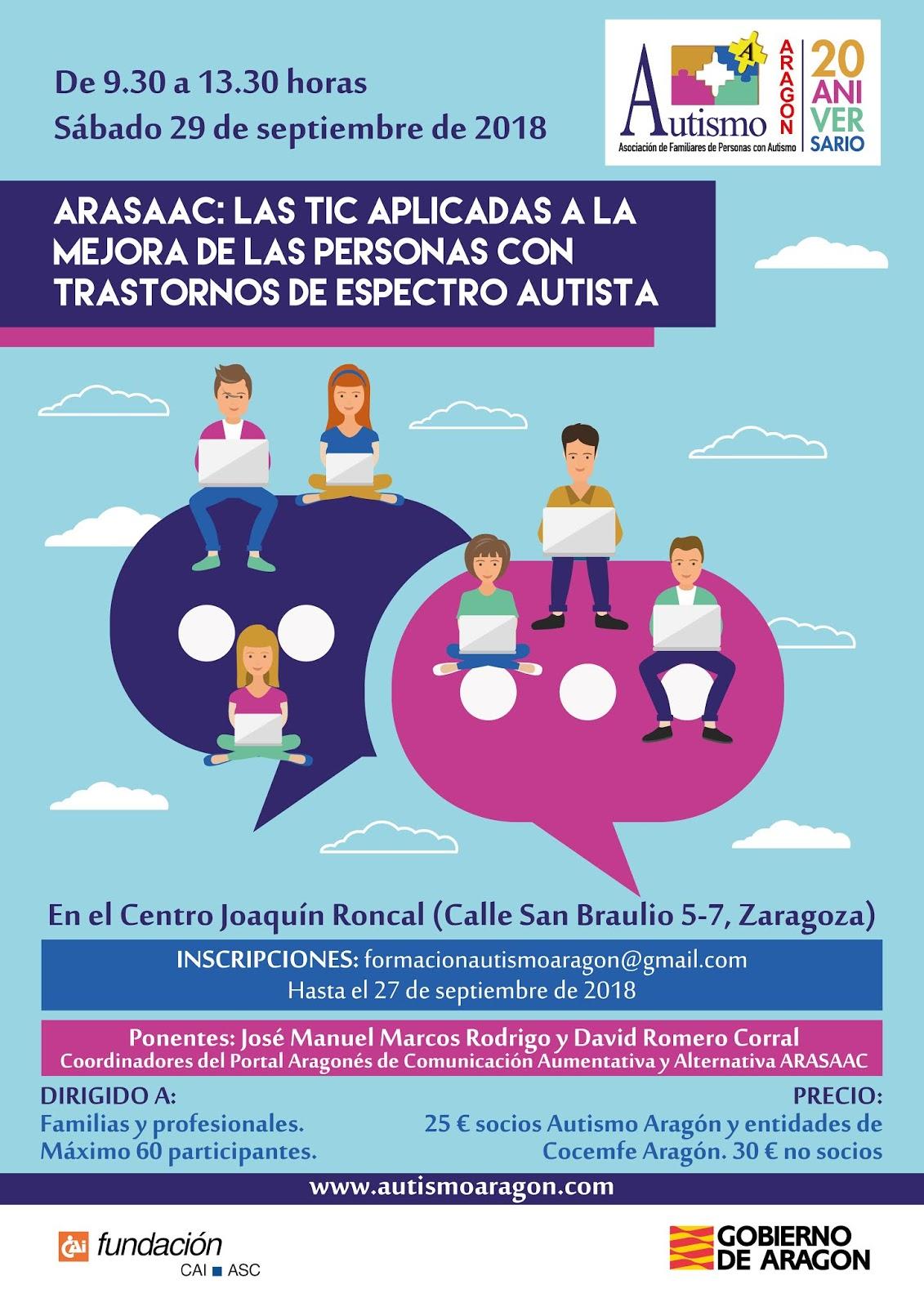 Últimos Días de inscripción Curso ARASAAC - Autismo Aragón